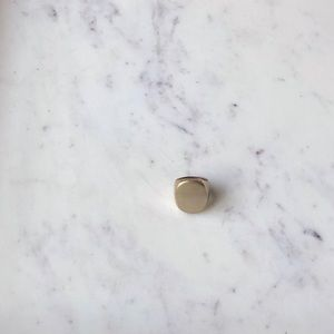 J. Crew Boyfriend Brass Signet Ring